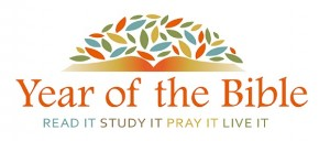 Year of the Bible logo with orange